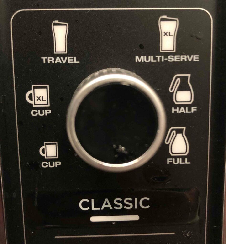 Ninja Specialty Coffee Maker Brew Sizes