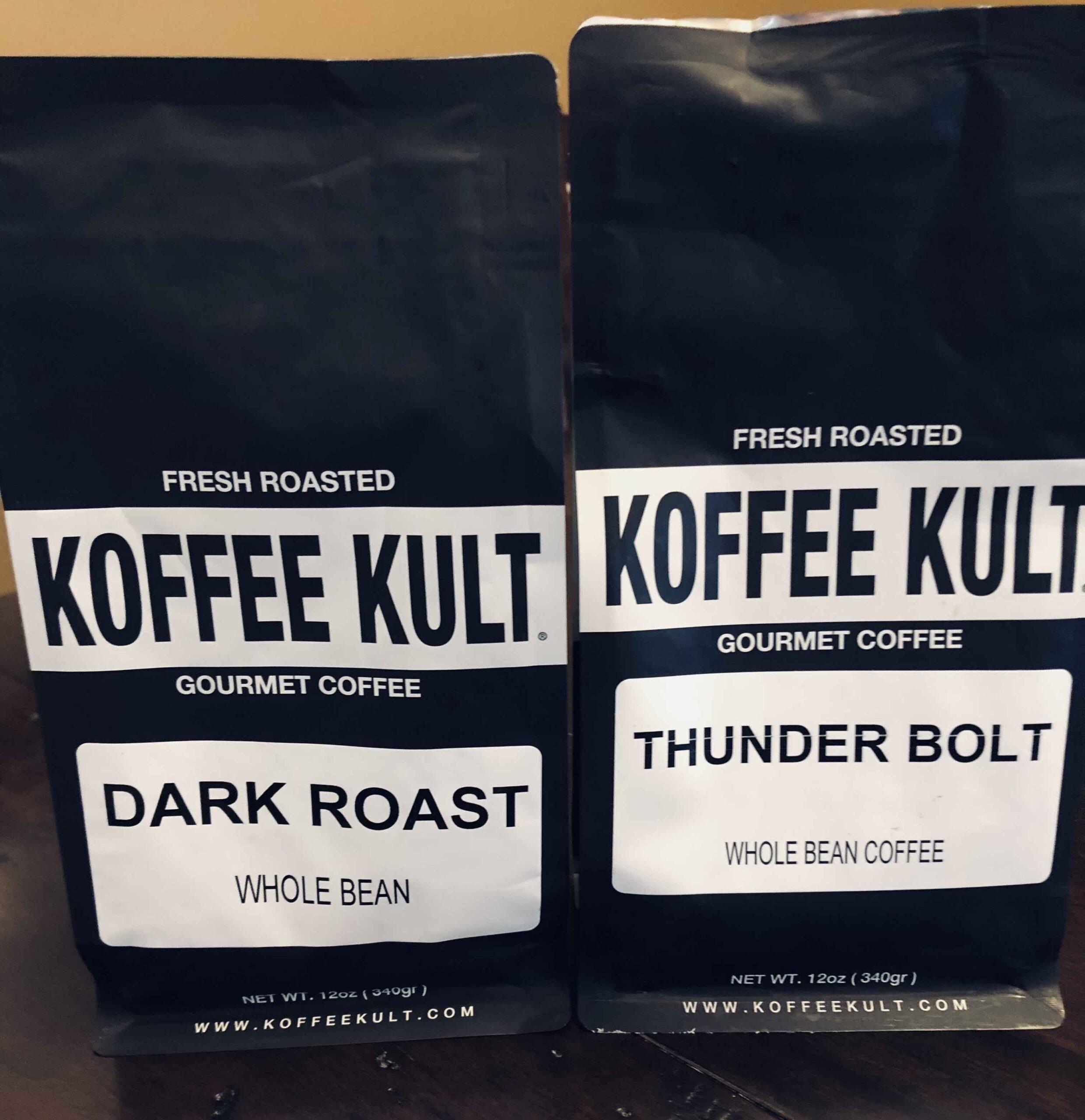 koffee kult dark roast vs thunderbolt